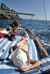 Positano by boat