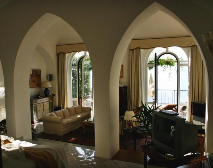 Palazzo Avino Ravello suite bedroom windows