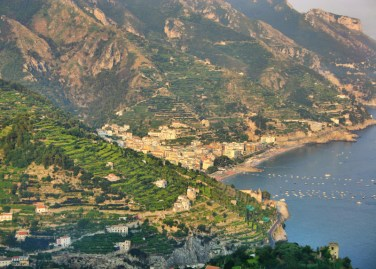 Ravello sunset sea view