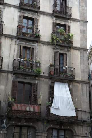 El Born Barcelona window sheets