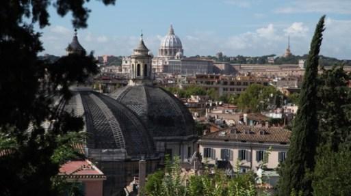 Villa Borghese Gardens city view