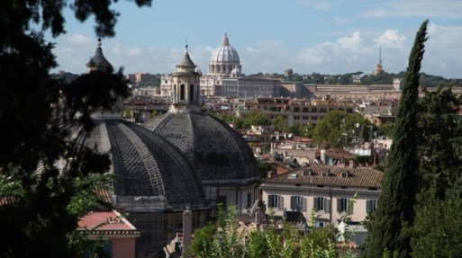 Villa Borghese Gardens city view