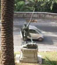 Villa Borghese Gardens city sculpture