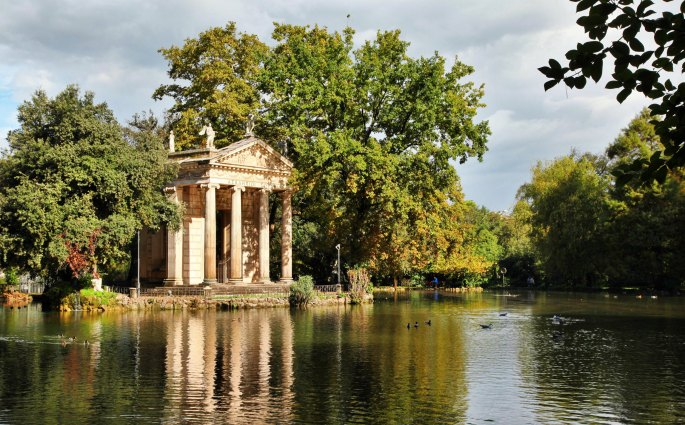 Villa Borghese Gardens Temple