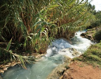 Saturnia hot springs source