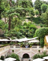 Hotel del Russie garden restaurant