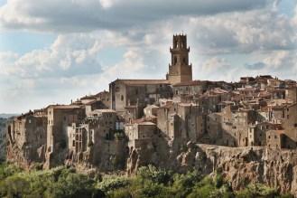 Pitigliano church view