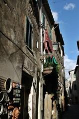 Pitigliano balconies