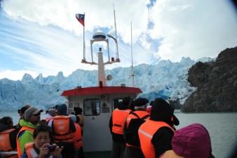 Torres del Paine Grey's Glacier boat passengers