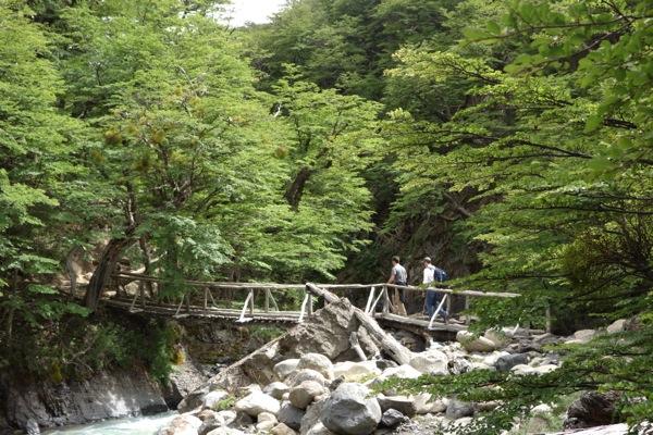 Torres del Paine National Park Towers Trail bridge