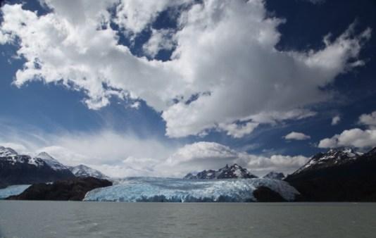 Torres del Paine Grey's Glacier clouds