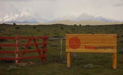 Tierra Patagonia entrance sign