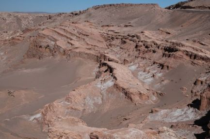 Atacama Desert Valley of the Moon ridges
