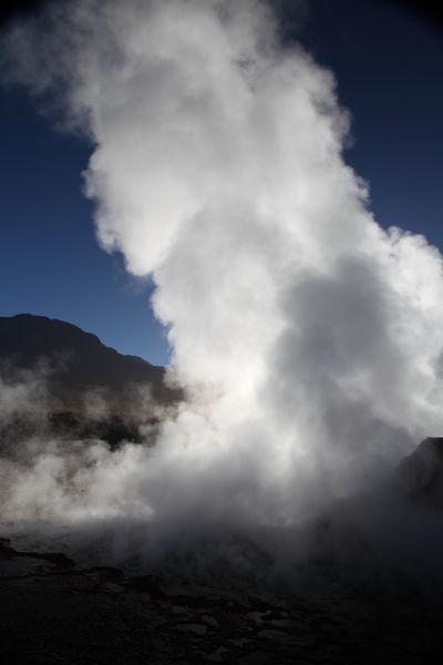 Tatio Geysers steam clouds
