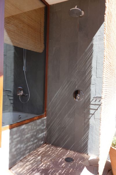 Tierra Atacama Hotel outdoor showers