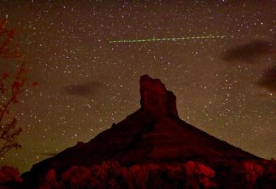 Gateway Canyons night time plane