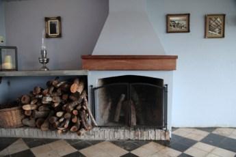 Narbona Wine Lodge fireplace