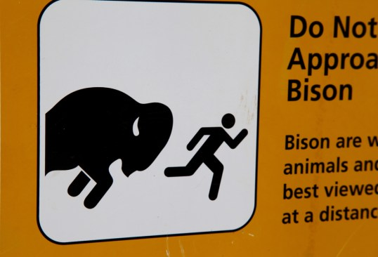 TALLGRASS PRAIRIE NATIONAL PRESERVE buffalo sign