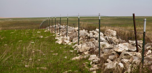TALLGRASS PRAIRIE NATIONAL PRESERVE rock wall