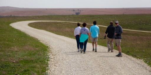 TALLGRASS PRAIRIE NATIONAL PRESERVE hikers