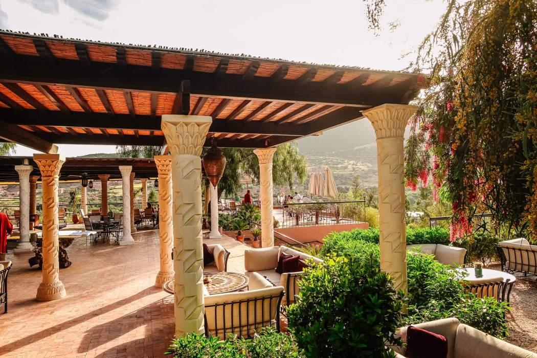 Kasbah Tamadot dining terrace