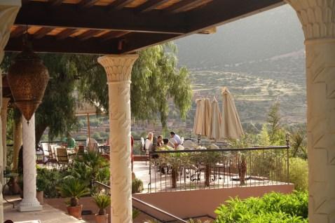 Kasbah Tamadot terrace breakfast