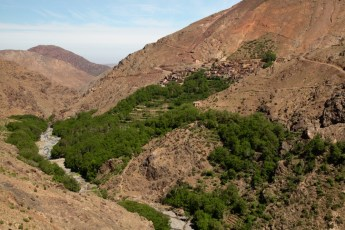 Hiking in the High Atlas valley trail