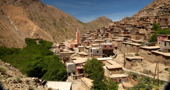Hiking in the High Atlas village mosque