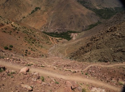 Hiking in the High Atlas higher trail