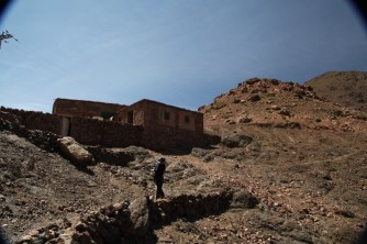 Hiking in the High Atlas Tamamert pass bar trek