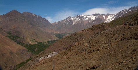 Hiking in the High Atlas valley view