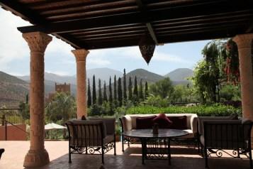 Kasbah Tamadot veranda view