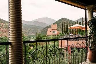 Kasbah Tamadot morning terrace view