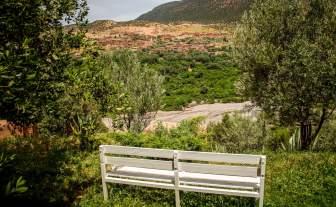 Kasbah Tamadot bench view