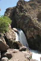 Trek in High Atlas waterfall