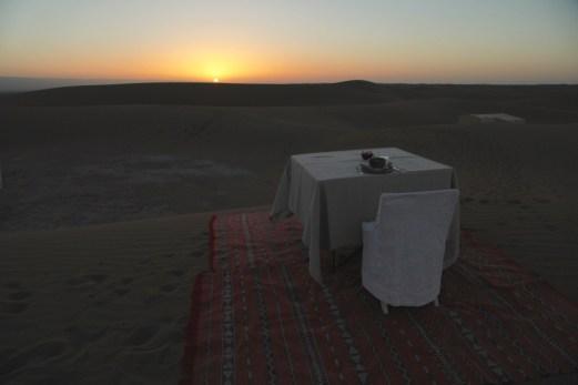 Dar Ahlam Tent Camp morning coffee