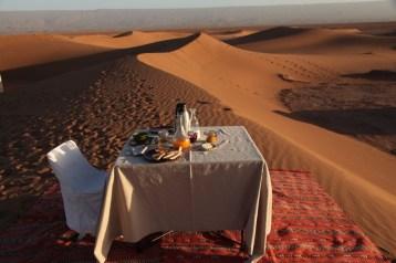 Dar Ahlam Tent Camp sunrise breakfast