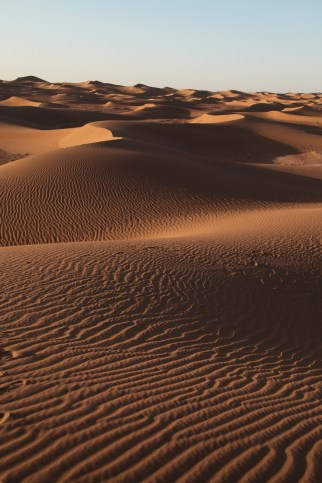 Dar Ahlam Tent Camp sunrise dune scrabble