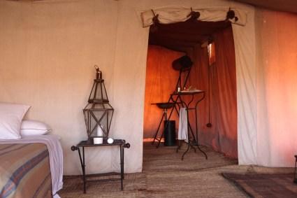 Dar Ahlam Tent Camp bathroom view