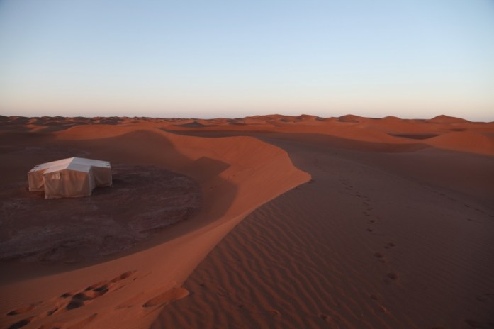 Dar Ahlam Tent Camp dawn dunes