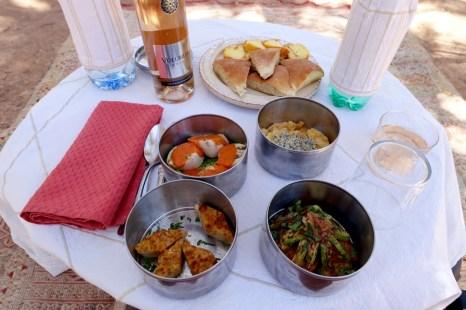 Dar Ahlam picnic in an oasis.