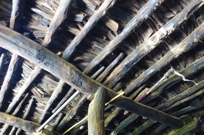 Armed Berber house rafters