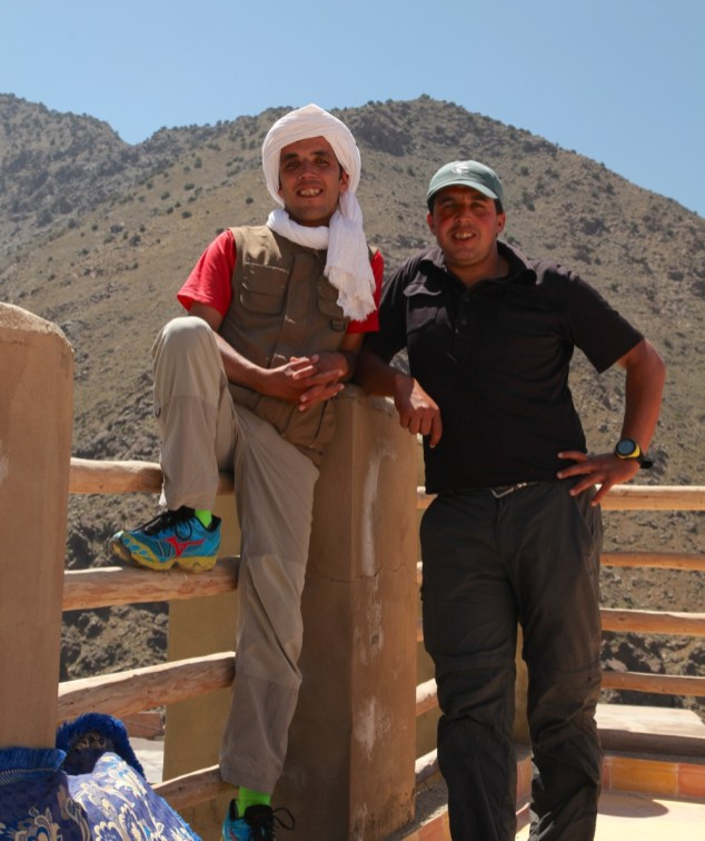 Mountain Guides Rachid and Mohamed at Douar Armed Imlil