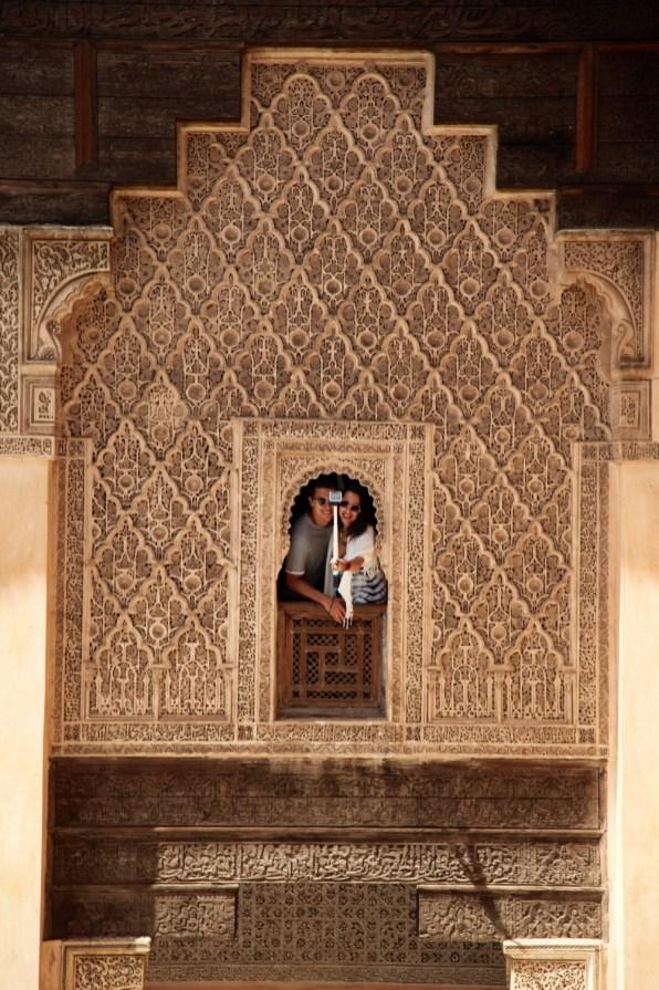 Medrassa Marrakesh window selfie