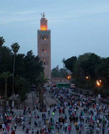Marrakesh mosque tower