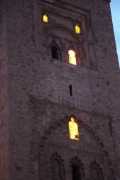 Marrakesh mosque tower windows