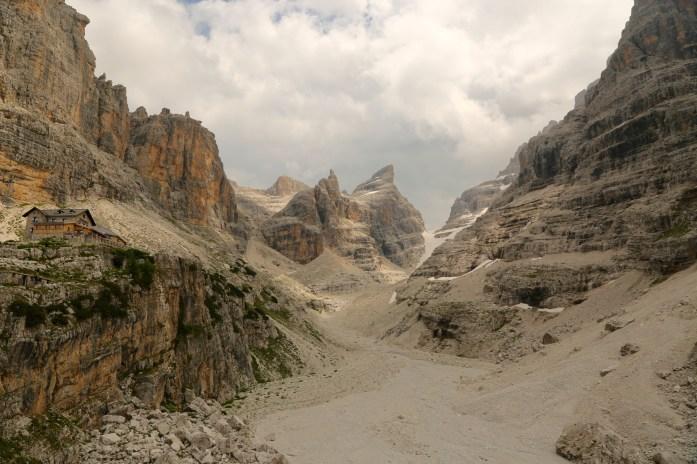 Rifugio Tuckett mountain view