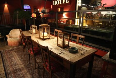 The Yard bar table