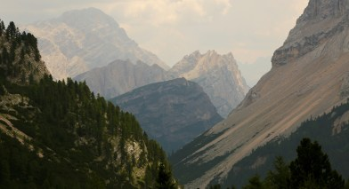 Boy was I tempted to divert down this valley.. but this would take me to Cortina