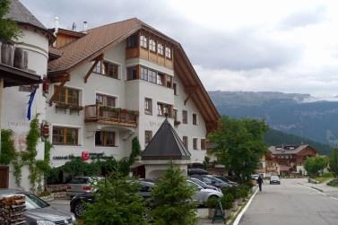 Hotel Rosa Alpina from afar